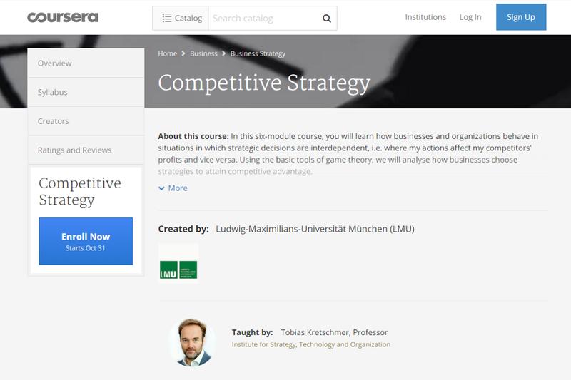 """Hunderttausende lernen bei ihm """"Competitive Strategy"""": Interview mit dem MOOC-Professor Tobias Kretschmer"""