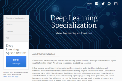 Andrew Ng Starts New Deep Learning Courses With Coursera