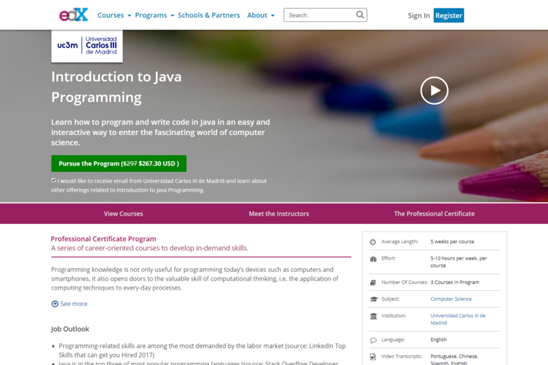 Learn Java Online: What are the Best Online Courses, YouTube Tutorials and MOOCs?